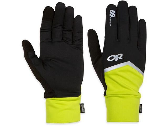Outdoor Research Speed Sensor Gloves Black/Lemongrass (151)